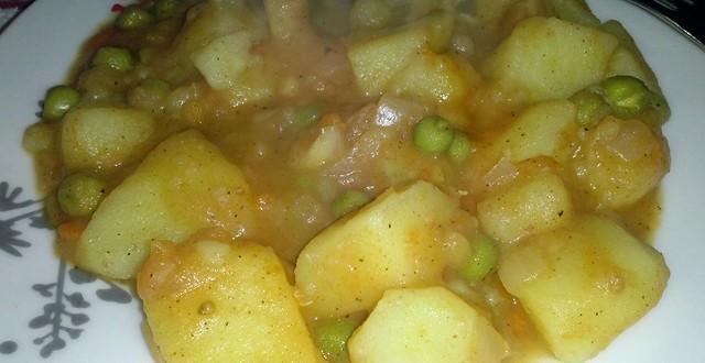 cartofi cu mazare
