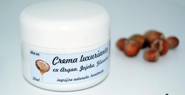 crema argan, jojoba si glicerina