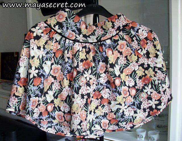 fusta pantalon cu flori