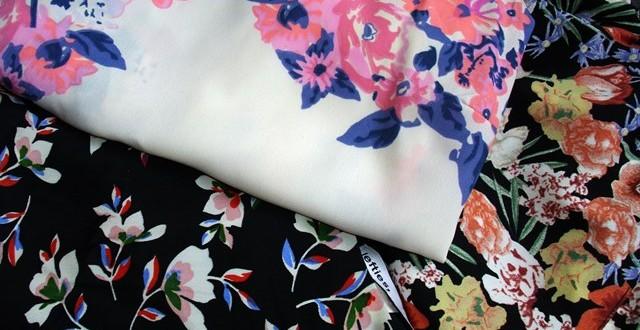 material cu flori