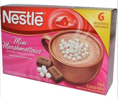 nestle ciocolata calda cu marshmallows