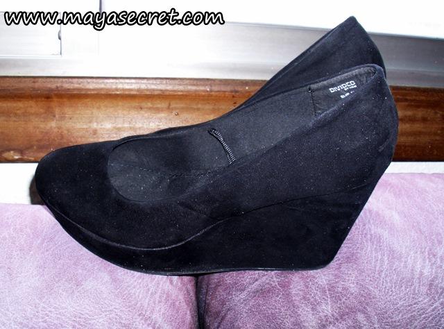 pantofi negri cu platforma