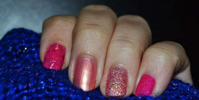 pink ribbon nails