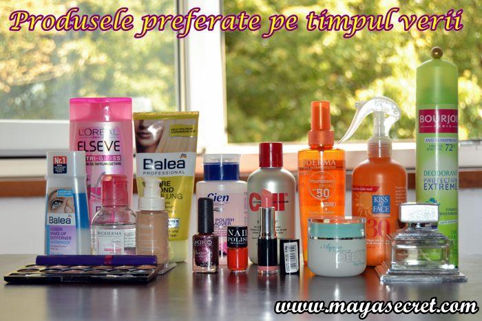 produsele cosmetice ale verii