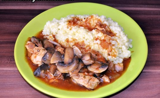 reteta orez curry pui si ciuperci