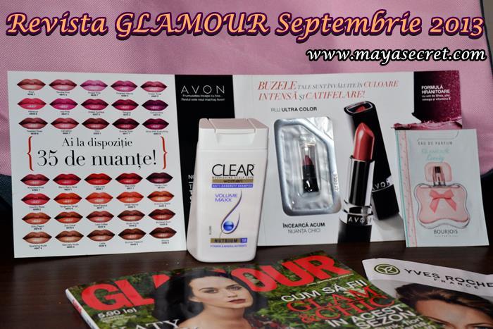 revista glamour cadou septembrie