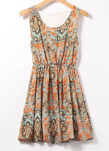 rochie imprimeu etnic