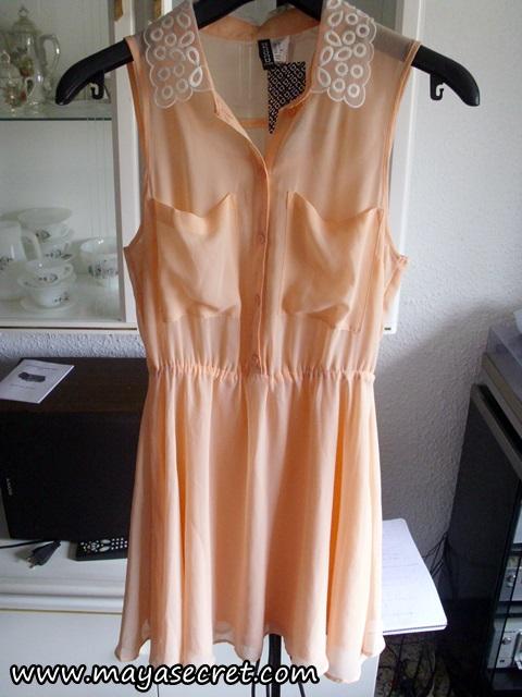 rochie primavara peach