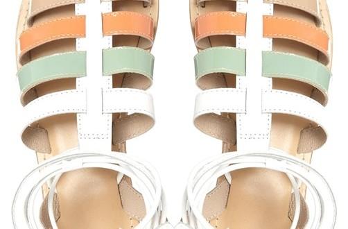 sandale colorate gladiator